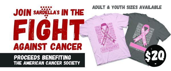 Sardella's Cancer Awareness T-Shirt