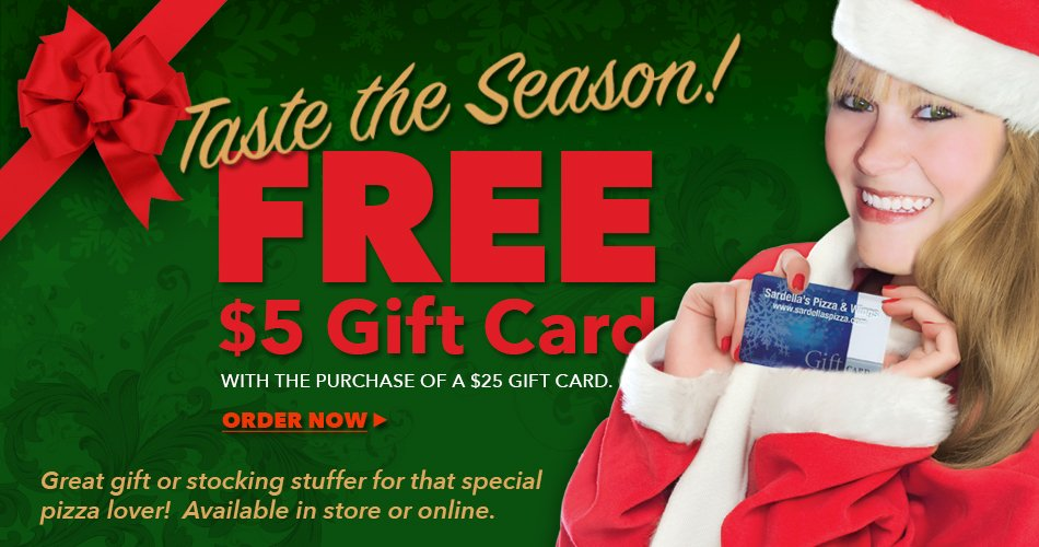 Christmas Pizza Gift Card Promotion