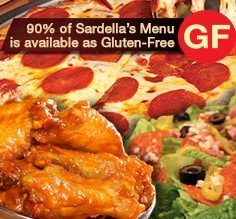gluten-free pizza at Sardella's slide