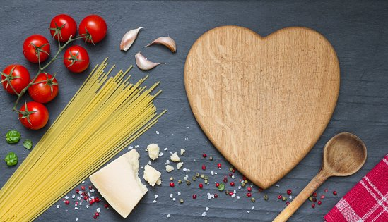 Pasta with a heart