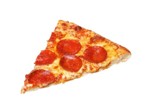 Slice of fresh italian classic original Pepperoni Pizza